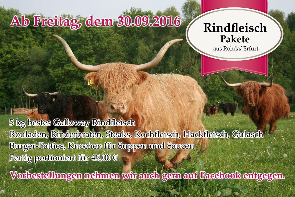Rindfleisch Anzeige